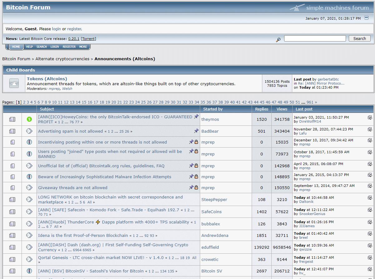 Форум Bitcointalk